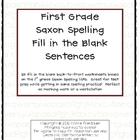 Saxon Phonics Spelling Fill in the Blank Sentences (1st Grade)