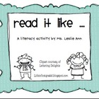 Say It Like Literacy Activity
