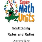 Scaffolding Rates and Ratios