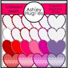 Scalloped Hearts {Graphics for Commercial Use}