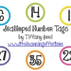 Scalloped Number Tags - FREE