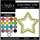 Scalloped Star Frames {Graphics for Commercial Use}