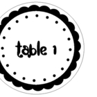 Scalloped Tabel Labels (Ceiling Hangers)