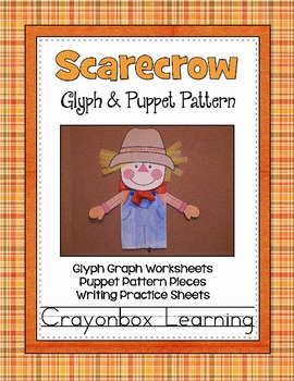 Scarecrow Glyph & Puppet Pattern Craftivity