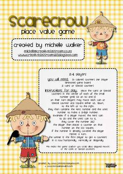 Scarecrow Place Value Game