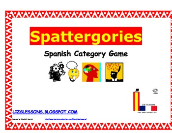 Scattergories for Spanish class!