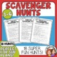 Scavenger Hunts: 15 for Dictionary, Library, Math, Nature,
