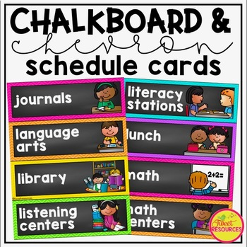 Schedule Cards {Chalkboard and Chevron}