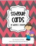 Schedule Cards {Cute schedule & time cards in words & pictures}