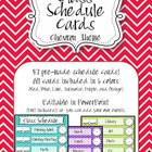 Schedule Cards (EDITABLE) - Chevron