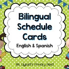 Schedule Cards - English and Spanish