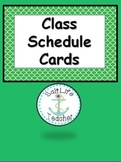 Schedule Cards (Ocean Theme)