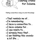 Schema Thinking Stems and Graphic Organizer