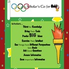 Scholarly Behaviors, Scholars Go for Gold!