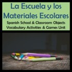 School & Classroom Objects Vocabulary Activities & Games U