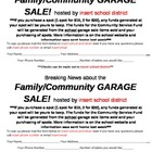 School Community Garage Sale