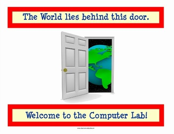 School Computer Lab Door Sign