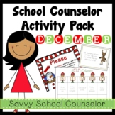 School Counselor's December Activity Pack- Savvy School Counselor