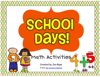 School Days Math Centers