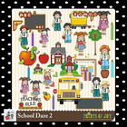School Daze Clip Art Graphics