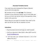 School Document Translation English/Spanish