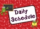School Froggy Red Daily Schedule