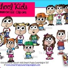 School Kids  Commercial Clip Art