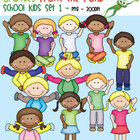 School Kids Set 1 - Graphics for Classroom & Commercial