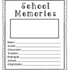 School Memories Booklet For Kids To Make