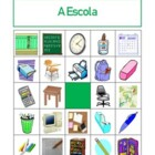 School Objects in Portuguese Bingo