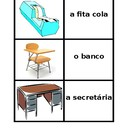 School Objects in Portuguese Concentration game