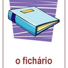 School Objects in Portuguese miniposters