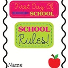 School Rules Student Booklet