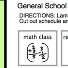 School Schedule (with sample schedule pieces)- Autism