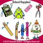 School Supplies Clip Art by Jeanette Baker