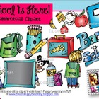 School Supplies Commercial Clip Art