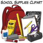 School Supplies - Commercial Use Clipart