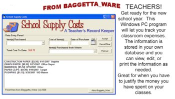 School Supply Costs A Teacher Log