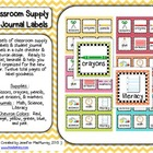 School Supply & Journal Labels (Checkies & Chevron Pattern)