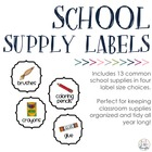 School Supply Labels- Variety of Sizes