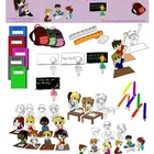 School Time Graphics, Clip Art