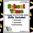 School Time Language Arts File Folder Games Book