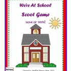School Time Noun and Verb Scoot Quiz Cards