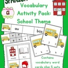 School Unit Vocabulary Literacy Activity Pack (Spanish)