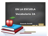 School Vocabulary Realidades 1 Chapter 2A