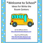 School Words Theme Write the Room Center Freebie
