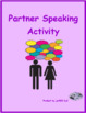 School objects partner speaking activity