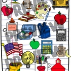 Schoolhouse Clipart Set - Back to School Clip Art for Augu