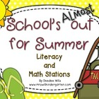 School&#039;s Almost Out for Summer! Literacy and Math Stations-CC