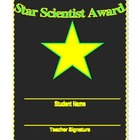 Science Award Certificate